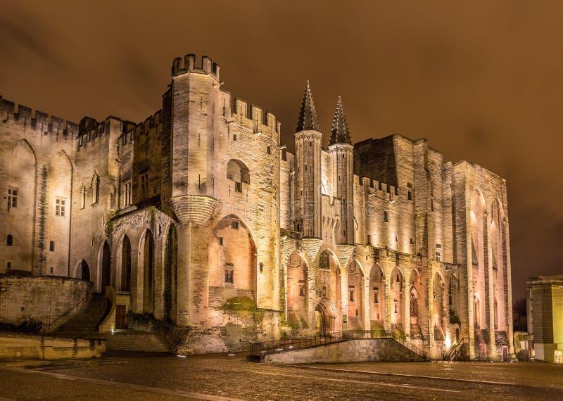 DES Papes de Palais en Aviñón, un sitio de la herencia de la UNESCO, Francia fotografía de archivo libre de regalías