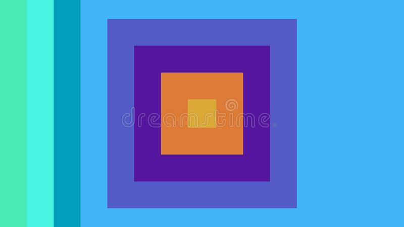 Des places multicolores sont combinées à un bel arrière-plan coloré illustration stock