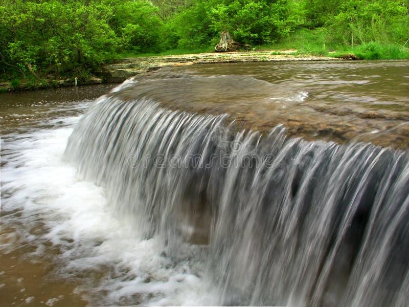 Des Plaines Conservation Area Illinois. Beautiful cascade on Prairie Creek of the Des Plaines Conservation Area in Illinois royalty free stock photos