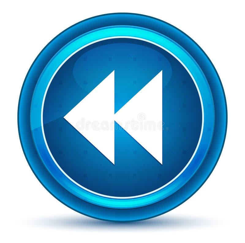 Des rückwärtigen blauer runder Knopf Ikonen-Augapfels des Sprunges vektor abbildung