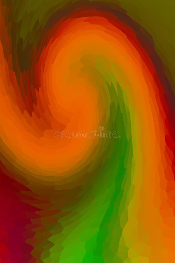 Des Steigungsmischungseffekteffekt-Buntglases der Bogenwellenbewegung bunter orange roter vielfältiger Hintergrund lizenzfreies stockfoto