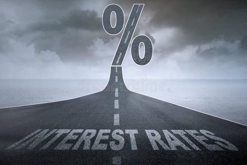 Des taux plus de grand intérêt illustration de vecteur