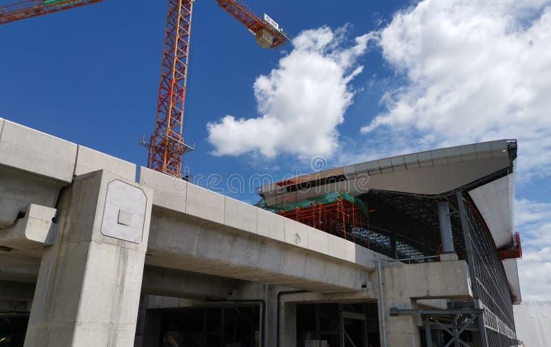 Des travaux de construction sont en cours à la gare de Bangsue Grand photos libres de droits