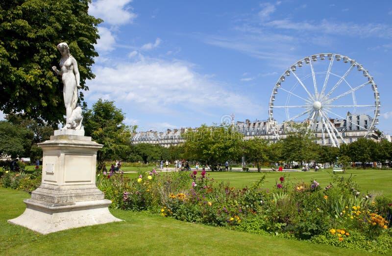 Des Tuileries Jardin в Париже стоковое фото