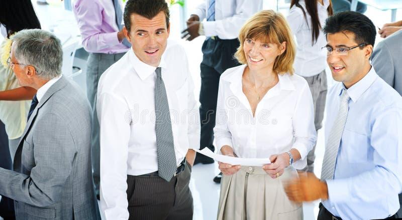Des Unternehmenskommunikations-Geschäftsleute Büro-Team Concept lizenzfreie stockbilder