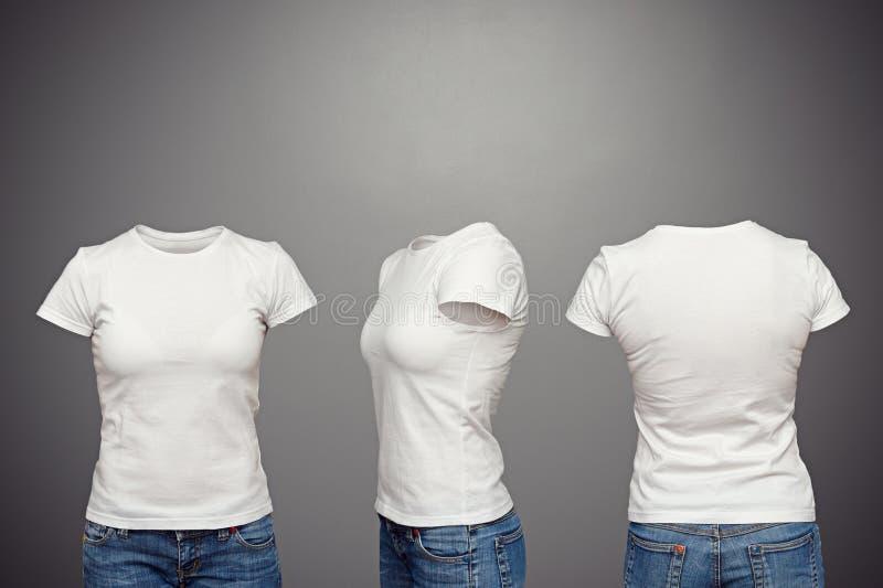 T-shirt féminin vide photos stock