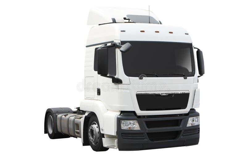 Des Weiß LKW halb stockfoto