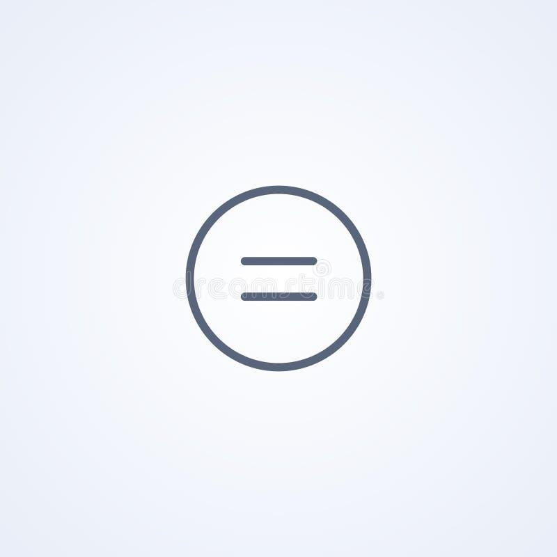 Des Zeichens Ikone gleichmäßig im Kreis, beste graue Linie Ikone des Vektors lizenzfreie abbildung