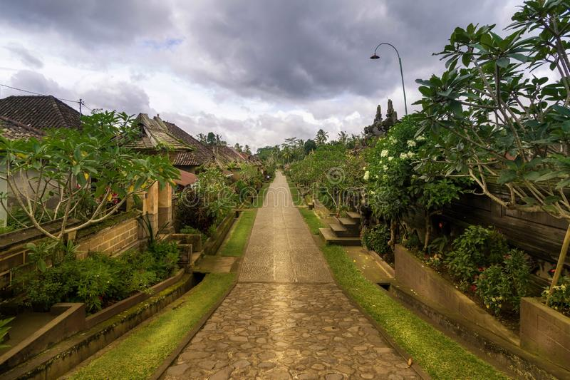 Desa Penglipuran Bali royaltyfri foto