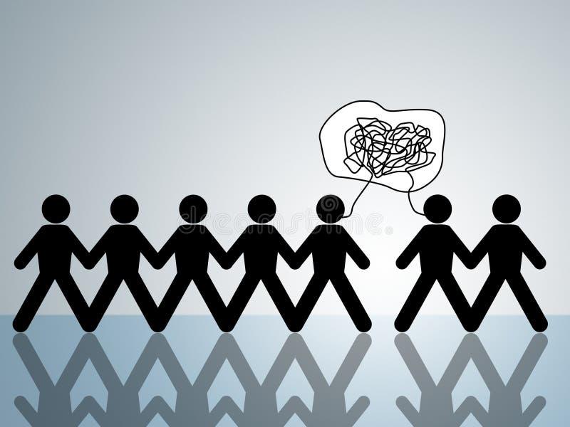 Desacuerdo de griterío de la lucha de la agresión verbal libre illustration
