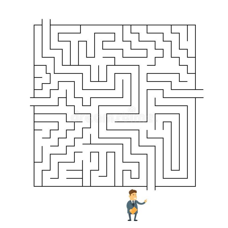 Desafío de la manera de Labyrinth Choosing Path del hombre de negocios libre illustration