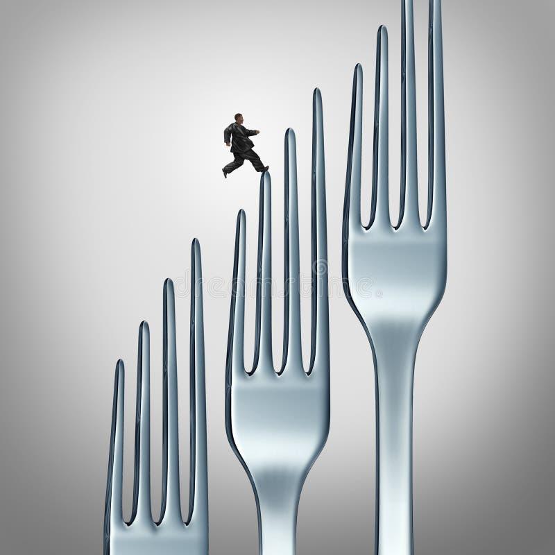 Desafío sano de la forma de vida ilustración del vector