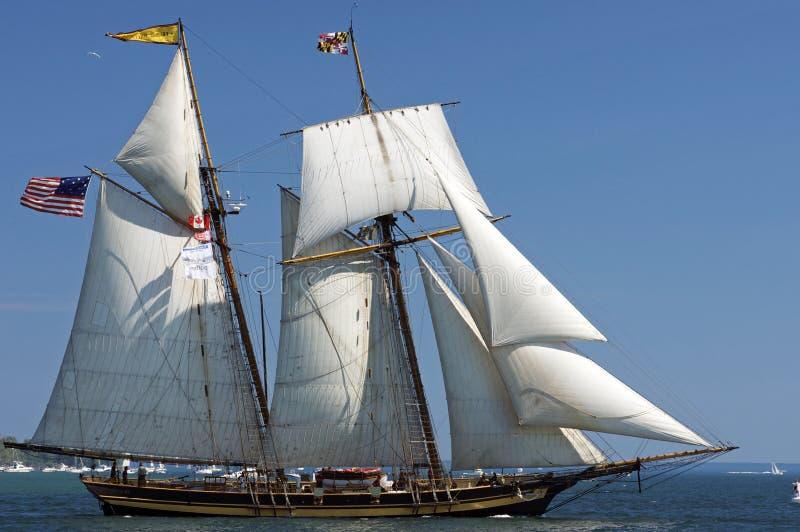Desafio alto 2010 dos navios - orgulho de Baltimore foto de stock