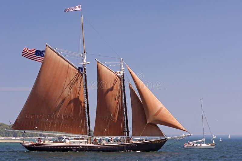 Desafio alto 2010 dos navios - Roseway fotografia de stock