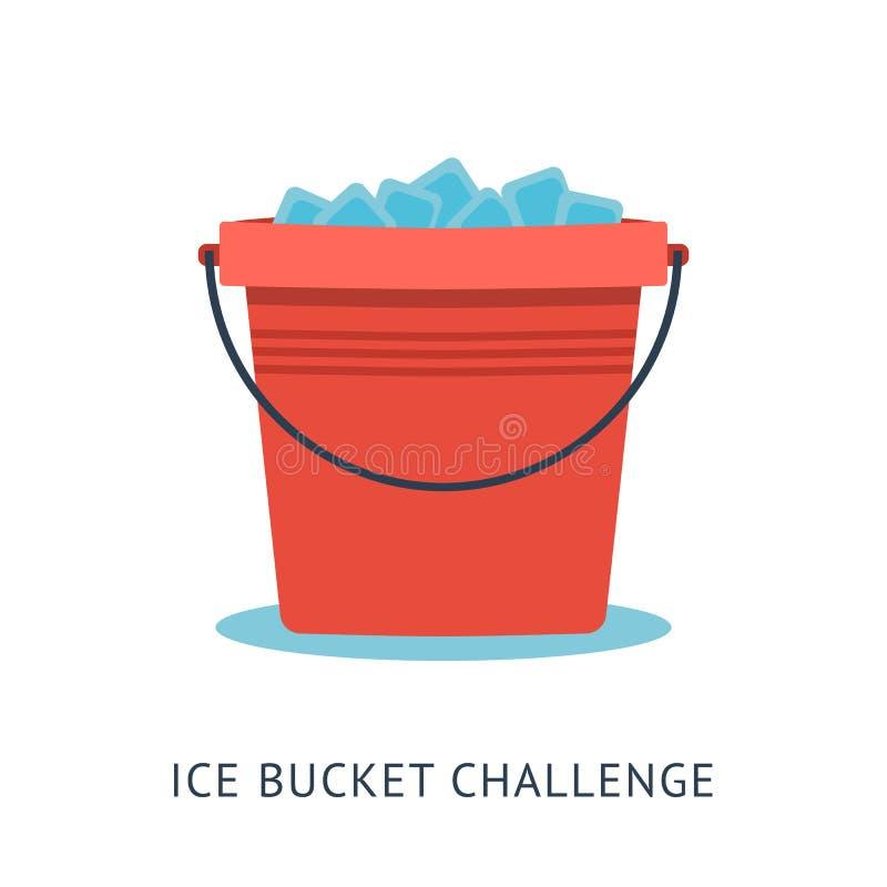 Desafio da cubeta de gelo do ALS ilustração royalty free