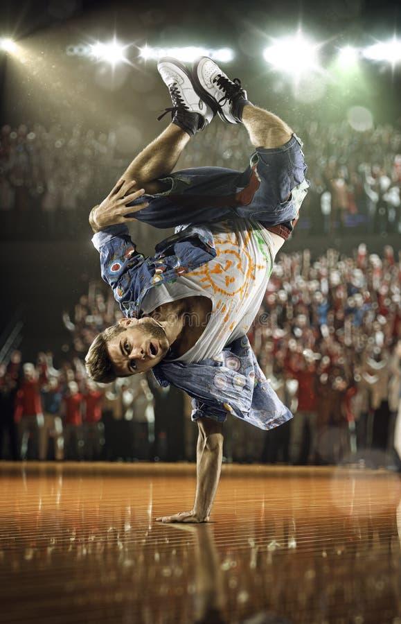 Desafio do dançarino do hip-hop imagem de stock
