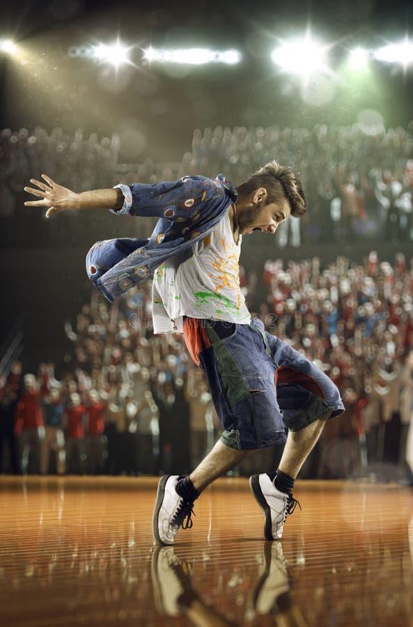 Desafio do dançarino do hip-hop imagens de stock royalty free