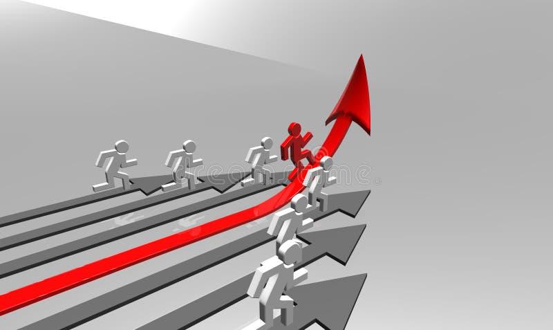 Desafio do negócio ilustração stock