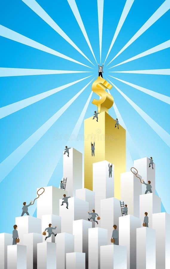 Desafio do negócio ilustração royalty free