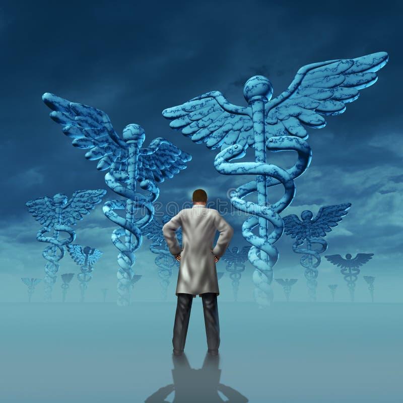 Desafio dos cuidados médicos ilustração royalty free