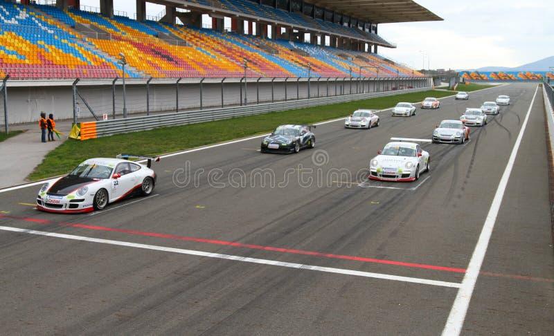 Desafio Europa Oriental do copo de Porsche GT3 fotografia de stock