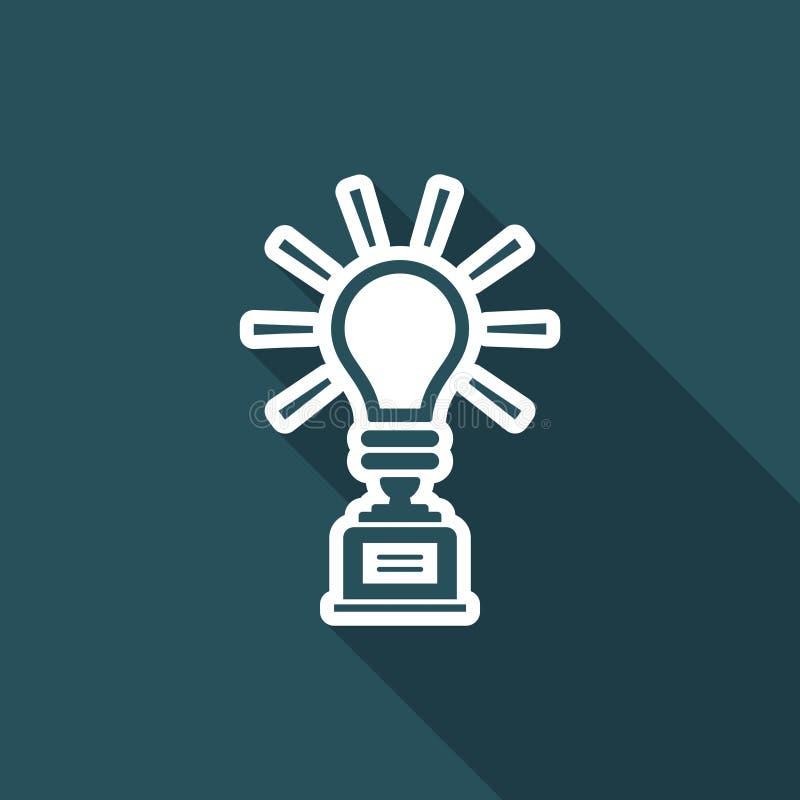 Desafio para a melhor ideia - Vector o ícone da Web ilustração stock