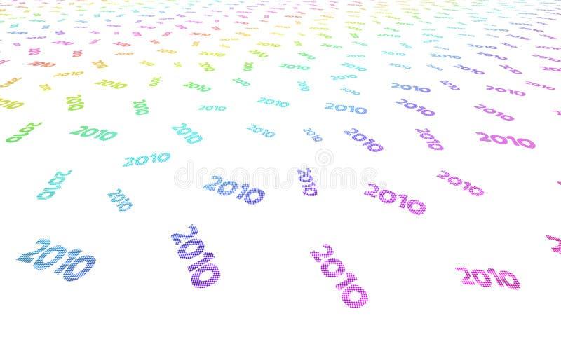 Desafios 2010 ilustração royalty free