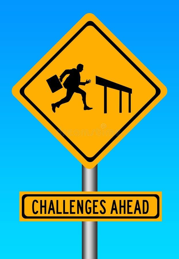 Desafios adiante ilustração royalty free