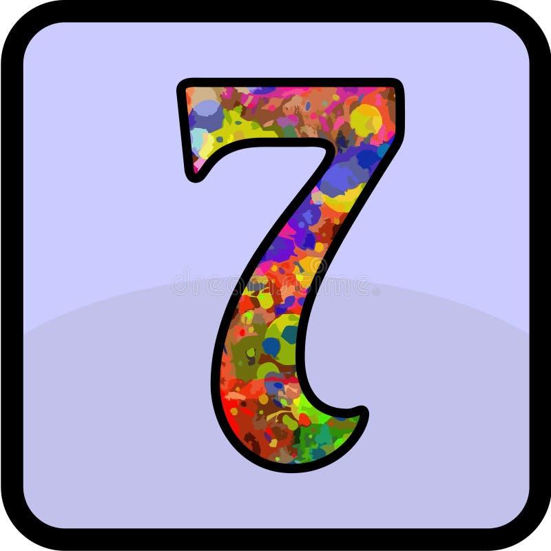 Desain del número para de uso múltiple fotografía de archivo libre de regalías