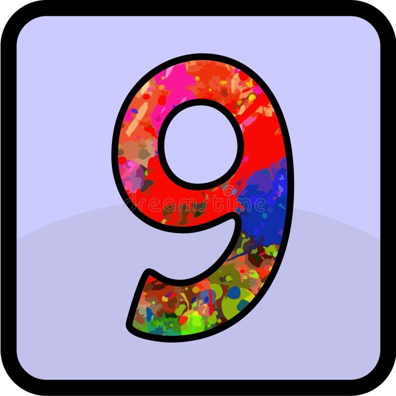 Desain del número para de uso múltiple foto de archivo libre de regalías