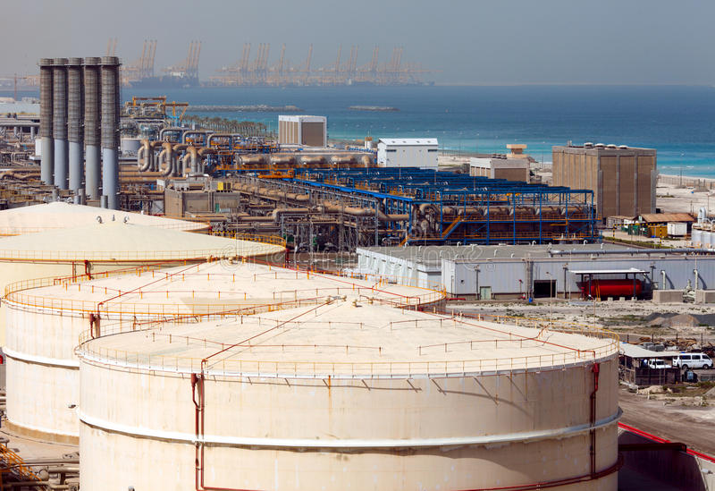 desalinating fabriksvatten arkivbilder