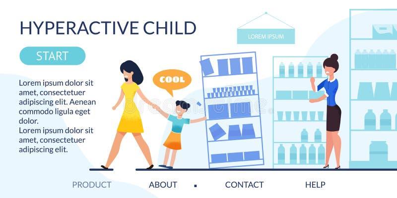 Desantowa strona Wyjawia Nadpobudliwego dziecka problem ilustracji