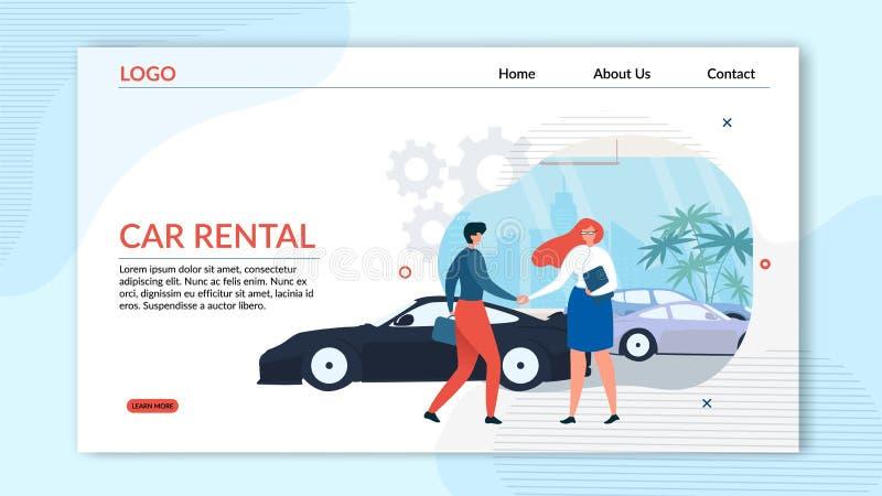 Desantowej strony Samochodowego wynajem Fachowa usługa ilustracji