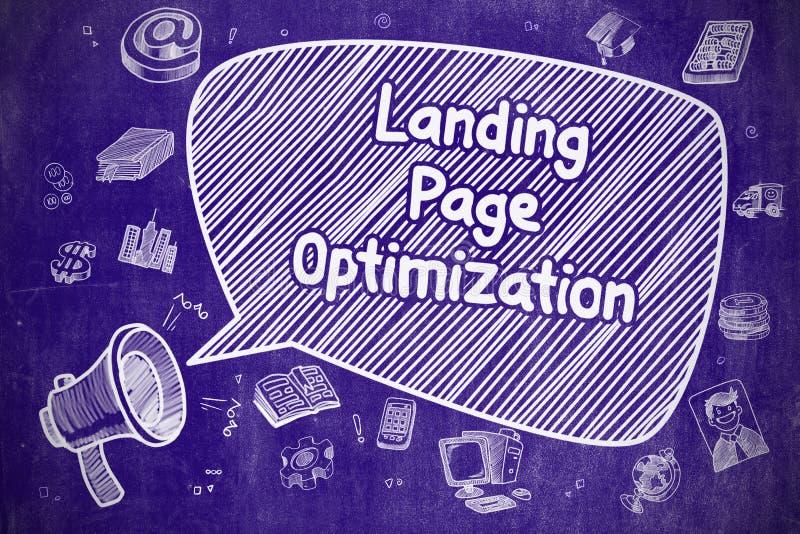 Desantowy strona optymalizacja - Biznesowy pojęcie ilustracja wektor