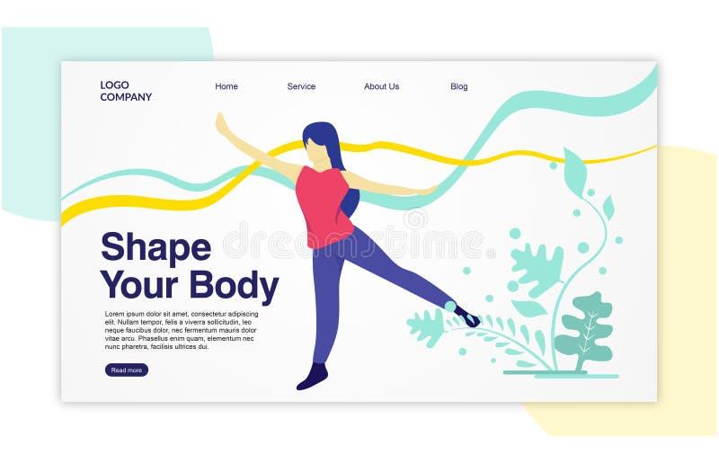 Desantowy strona szablon kształt twój ciało ilustracja wektor