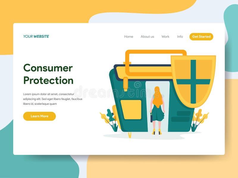 Desantowy strona szablon ochrona konsument royalty ilustracja