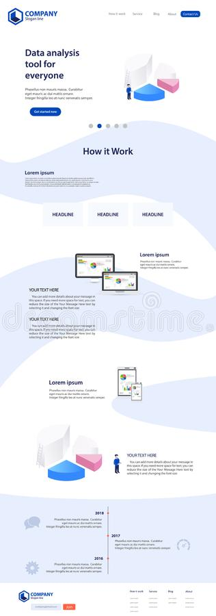 Desantowy strony strony internetowej tematu szablonu projekt royalty ilustracja