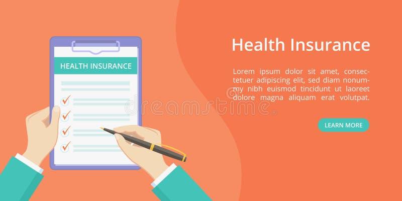 Desantowy ubezpieczenie zdrowotne na schowku z rękami