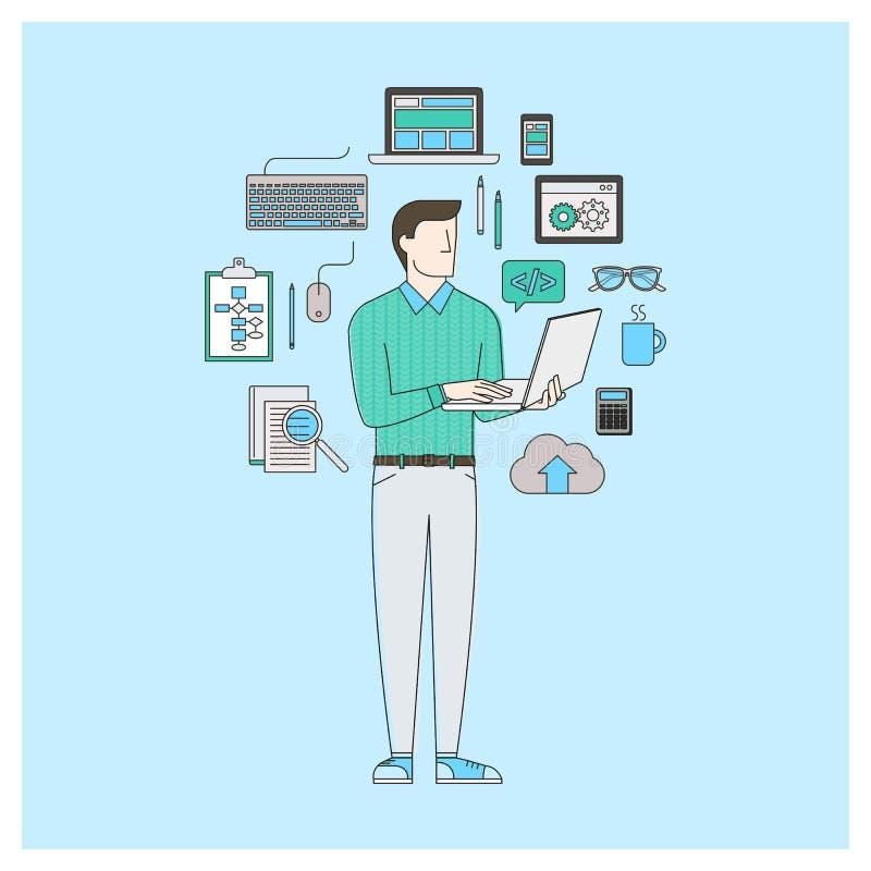 Desarrollador de software ilustración del vector