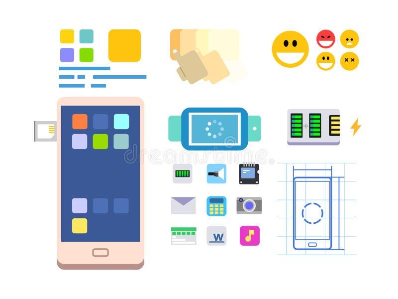 Desarrollar un app y una disposición móviles libre illustration