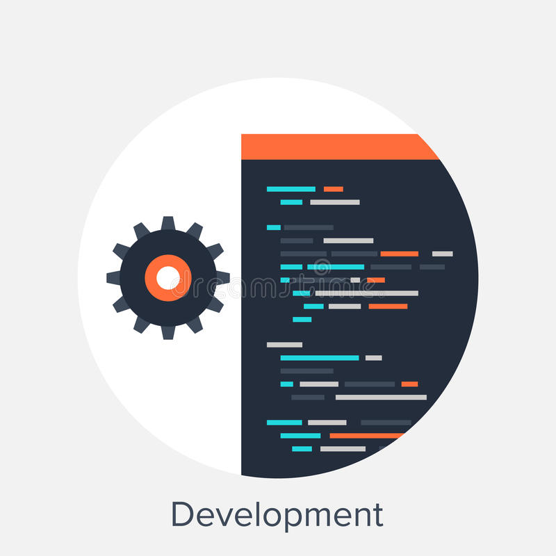 desarrollo stock de ilustración