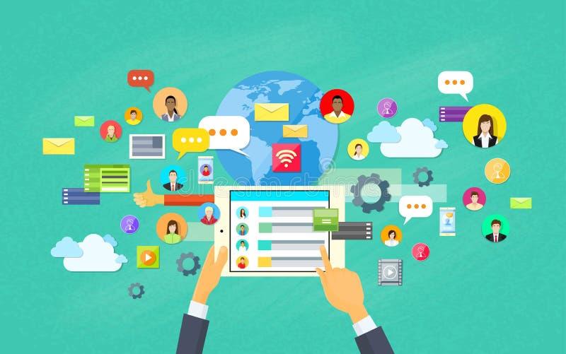 Desarrollo de aplicación móvil, tableta App stock de ilustración