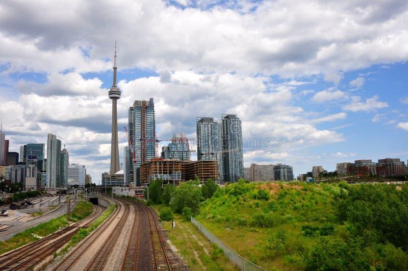 Desarrollo de la ciudad de Toronto fotos de archivo