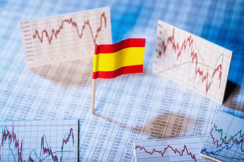 Desarrollo de la economía en España imagenes de archivo