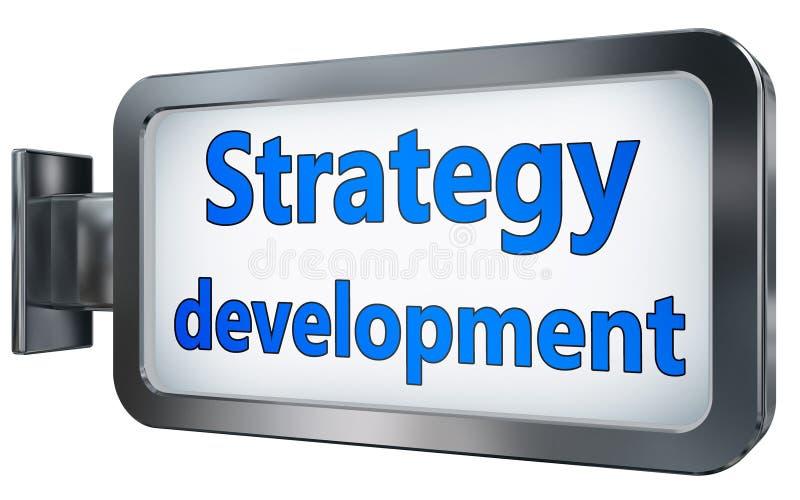 Desarrollo de la estrategia en la cartelera libre illustration