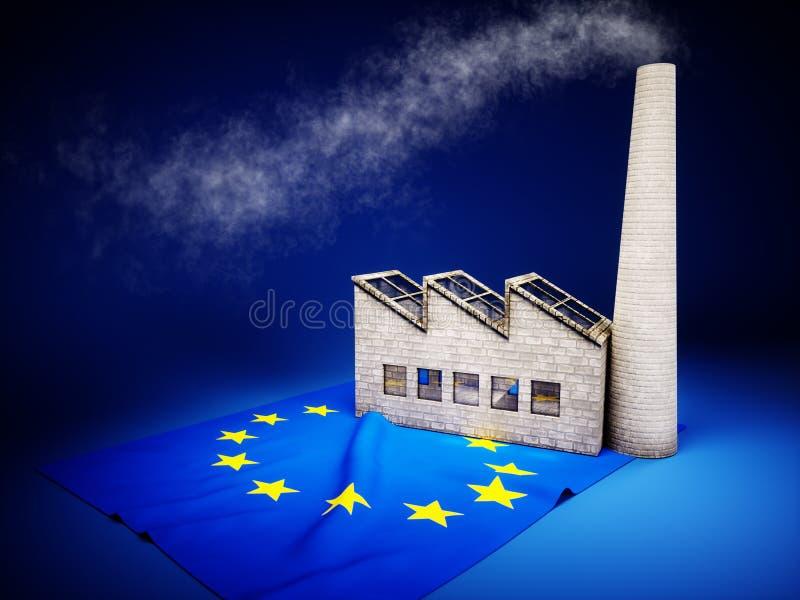 Desarrollo de la industria de la UE stock de ilustración