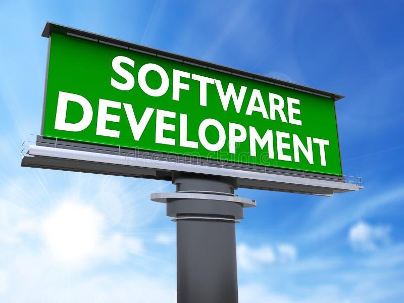 Desarrollo de programas stock de ilustración