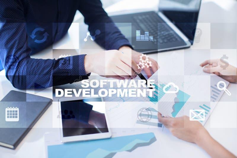 Desarrollo de programas Usos APPS para el negocio programación fotos de archivo libres de regalías