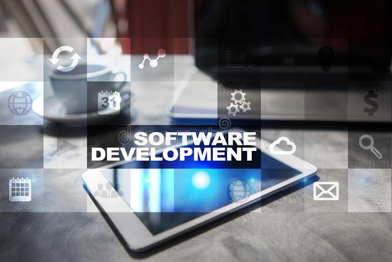 Desarrollo de programas Usos APPS para el negocio programación fotografía de archivo libre de regalías