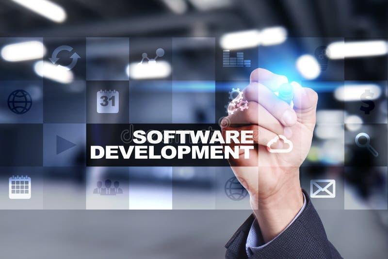 Desarrollo de programas Usos para el negocio programación imagenes de archivo